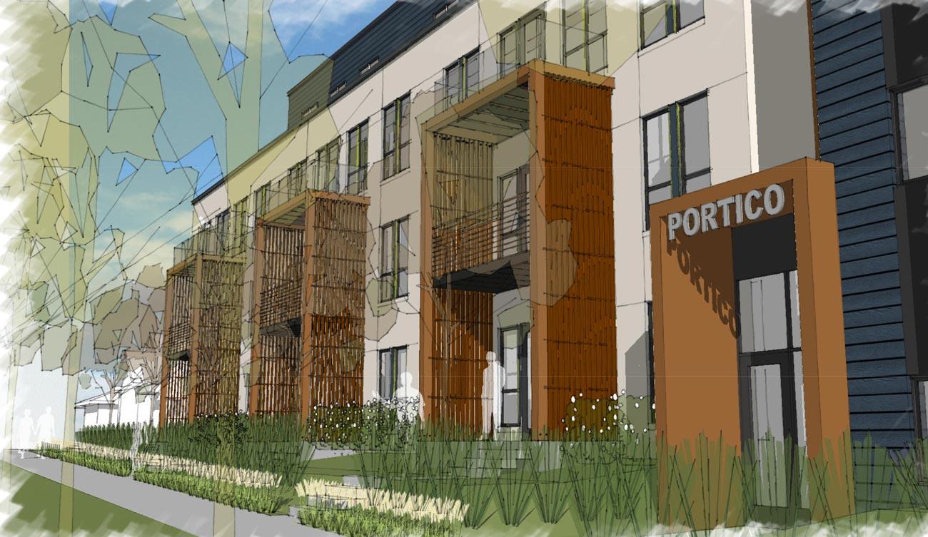 Portico at the Falls luxury Minneapolis Condominiums